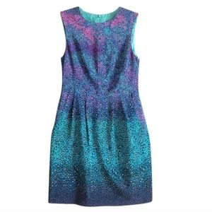 Nanette Lepore Blue Silk Animal Print Sheath Dress
